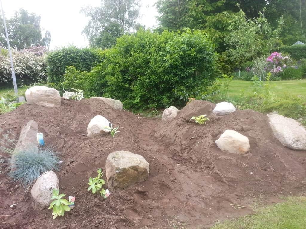 Anlægsgartner i Vejle - Havelandskab med beplantning i Vinding ved Vejle