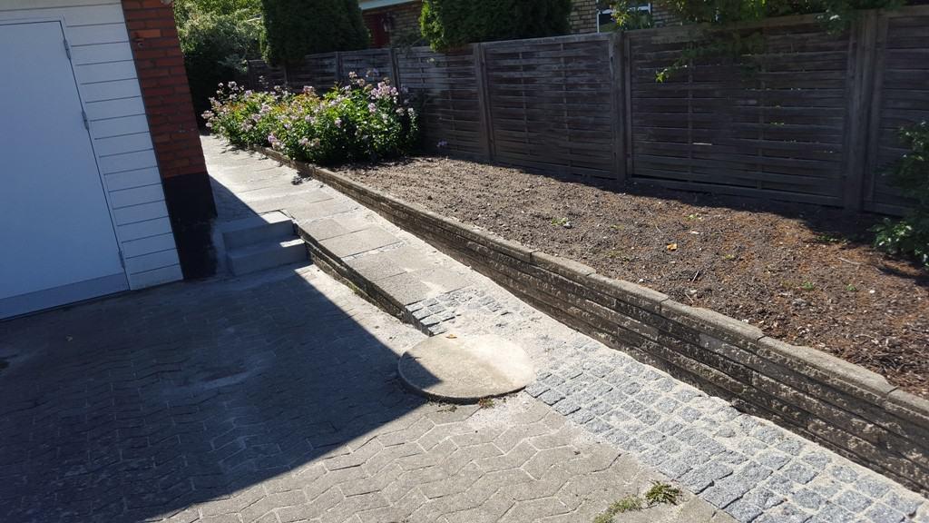 Reparation af beton hegn i fredericia