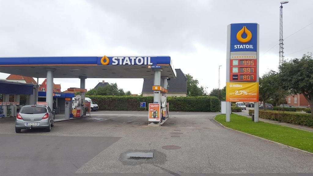 Hækkeklipning og beskæring af hæk på Circle k Statoil i Middelfart