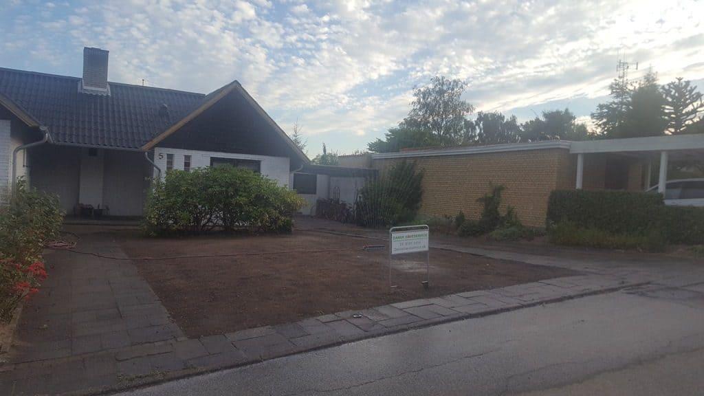 Anlægsgartner-Græsplæne i Vejle nyanlaegning-graesplaene-solbakken-uhrhoej-vejle-20160831_192546