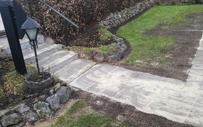 Trappe i granit og havefliser på Nobilisvej i Vejle